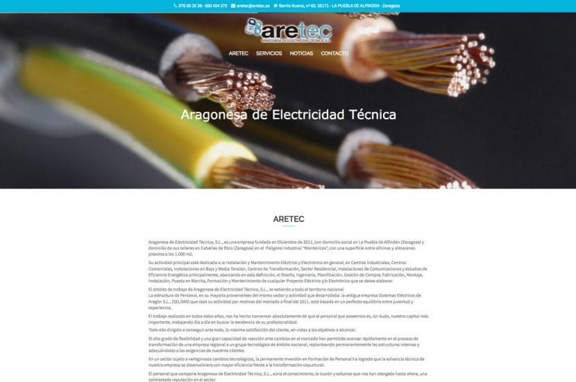 aretec nueva web